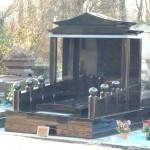 Monument chinois en granit noir fin