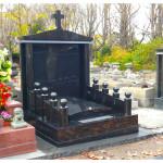 Monument funéraire chinois en granit noir fin