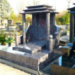 Monument funéraire chinois en granit mass blue
